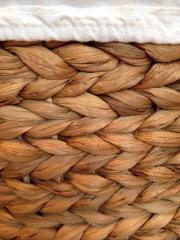 Wäschekorb aus Wasserhyanzinthe