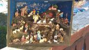 Weihnachtskrippe, Miniaturlandschaft, Kunsthandwerk,