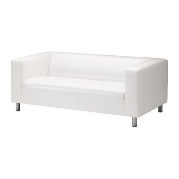 wei e ikea couch zu verkaufen top zustand 180 cm 3 sitzer robustes kunstleder in karlsruhe. Black Bedroom Furniture Sets. Home Design Ideas