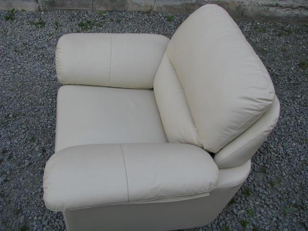 weisser ledersessel in herrenberg polster sessel couch kaufen und verkaufen ber private. Black Bedroom Furniture Sets. Home Design Ideas