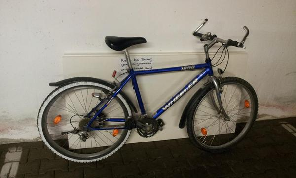 wheeler mountainbike fahrrad 1800 26 zoll blau in. Black Bedroom Furniture Sets. Home Design Ideas
