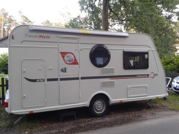 wohnwagen tec travel style 410 mit antischlingerkupplung. Black Bedroom Furniture Sets. Home Design Ideas