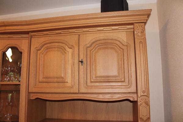 Wohnzimmerschrank Eiche Massiv Gebraucht Sehr Gut Erhaltener Massivholz In Vitrine