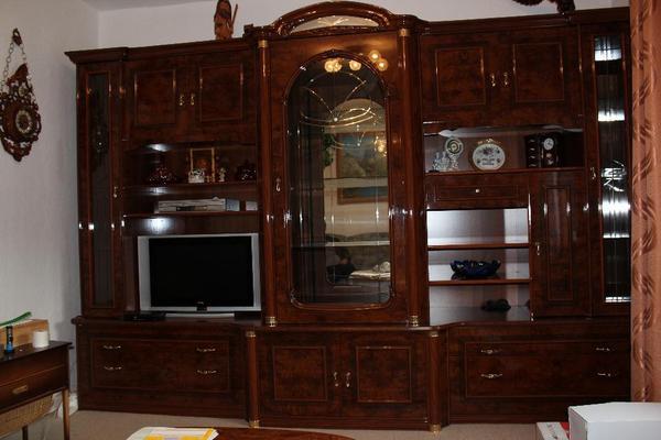 Wohnzimmerschrank Nussbaum Gebraucht Braun Masse L H Ca 325 X