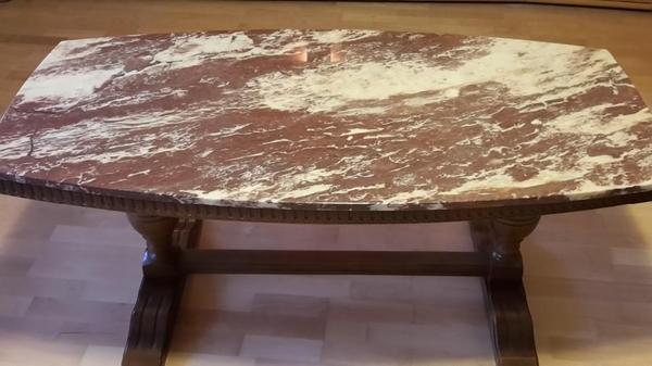 Wohnzimmertisch mit marmorplatte in oftersheim for Wohnzimmertisch marmorplatte