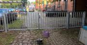 Zaun, Metallzaun Tor,