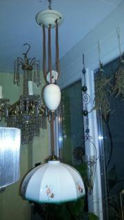 Zuglampe Pendelzug Porzellan