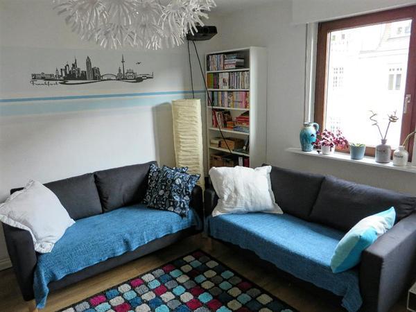 zwei ikea karlstad 2 sitzer dunkelgrau anthrazit in. Black Bedroom Furniture Sets. Home Design Ideas