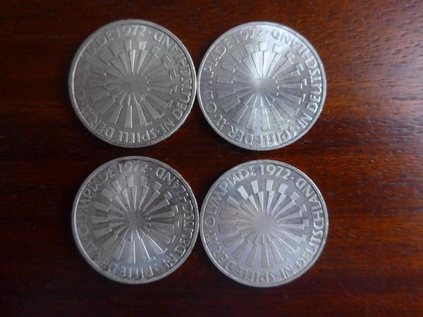 1 Satz 10DM Münzen Olympiade -