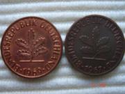 2 Pfennig Münzen aus Cu -