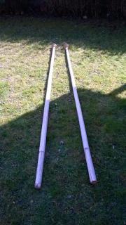 2x Holz Fahnenstock