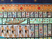 3 ÄGYPTISCHE PAPYRUS MALEREIEN mit