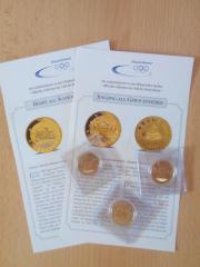 3 Gedenkmünzen Olympia Peking 2008