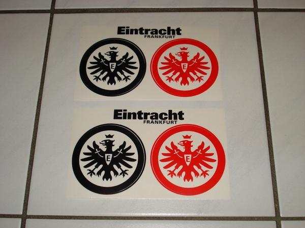 4 Eintracht Frankfurt Aufkleber 2 X 2 Stück Inklusive Versand In