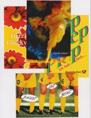 4 Gruß-Postkarten aus den 90ern