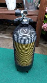 8 Liter Stahlflasche,
