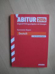 Abitur 2016 Prüfungsaufgaben Deutsch Bayern