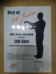 AIDA Reise-Gutschein