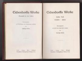 Komplette Sammlungen, Literatur - Alte Ausgabe Eichendorffs Werke - 1