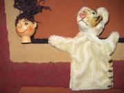 alte Hand Puppen