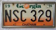 Autonummertafel von CHATHAM