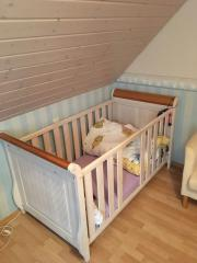 babybett gitterbett 70x140 mit matratze in dachau wiegen. Black Bedroom Furniture Sets. Home Design Ideas