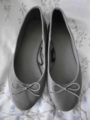 ballerinas von h m-- grau-neu-leder-gr-38-