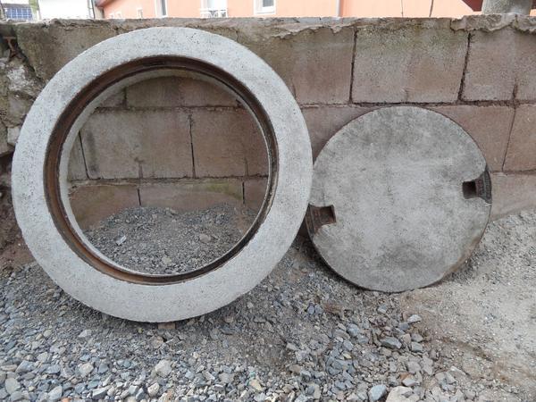 baumaterial kanalschacht revisionsschacht schachtabdeckung deckel mit ring beton in markt. Black Bedroom Furniture Sets. Home Design Ideas