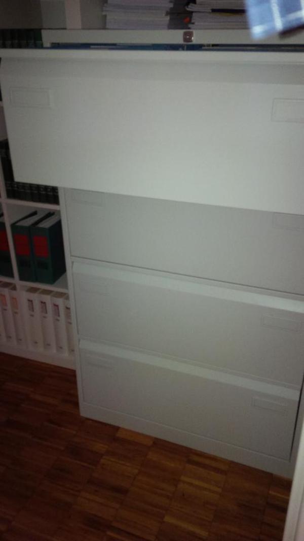 Bisley Aktenschrank doppelbahnig, 4 HR-Schubladen DIN A4, weiss in ...