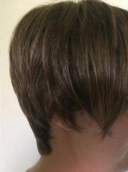 Braune Kurzhaar-Perücke