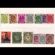 Briefmarken BRD von 1953 aus