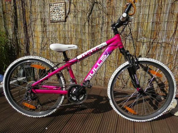 bulls mtb 24 zoll m dchen fahrrad tokee pink 18 gang. Black Bedroom Furniture Sets. Home Design Ideas