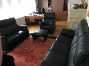 Couchgarnitur - hochwertiges Leder,