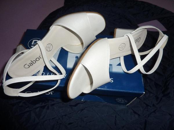Da Sandalette Gabor NEU elegant Gr 6 (39) weiß perl-evt als ... a62c0b0516