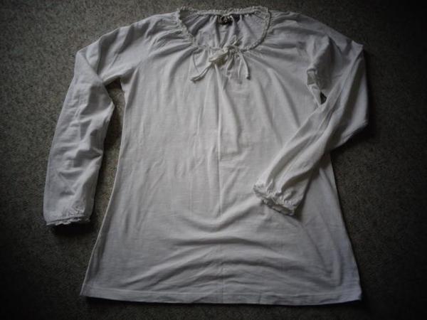 Damenbekleidung Neu Langarmshirt Romantik-Shirt Gr