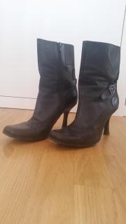Damenschuhe Schuhe 39 Leder schwarz