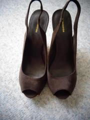 Damenschuhe Wedges Sandaletten braun Gr