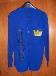 Damenstickjacke Gr 44 46 blau