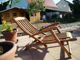 Bild 4 - Deck-Chair Liegestuhl mit Fußteil das - Hirschaid