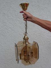 Deckenlampe, Hängelampe, Messing,