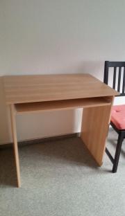 Desk with keyboard