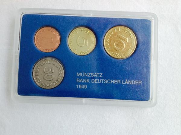 Dm Münzsatz Bank Deutscher Länder 1949 Extrem Selten Samlung In