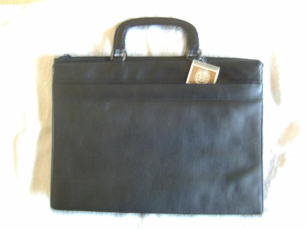 Dokumententasche, LEDER; Neuwertig, » Taschen, Koffer, Accessoires