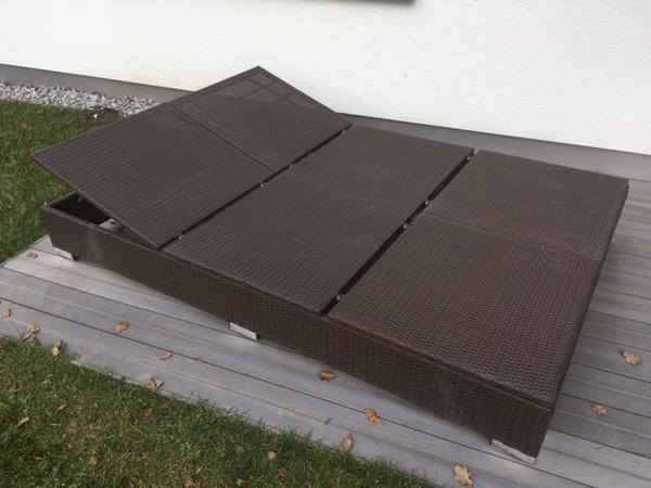 Gartenmobel Rattan Lounge Set : Doppelliege Rattan in Meiningen  Gartenmöbel kaufen und verkaufen