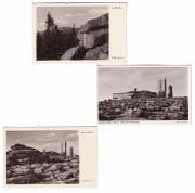 Drei alte Ansichtskarten vom Brocken