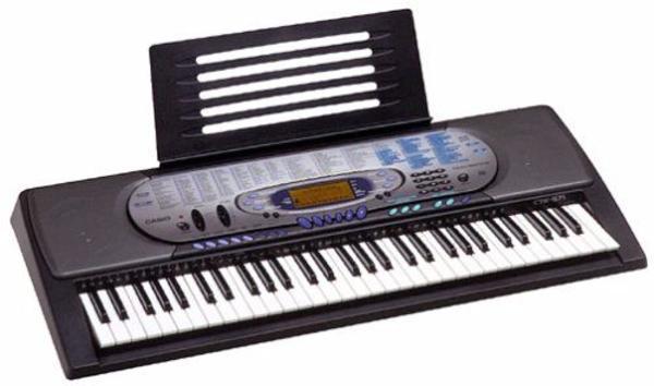 Electronic Keyboard Casio CTK 571 - Dudenhofen - Einsteiger-Keyboard, wenig genutzt, inkl. Keyboard-Ständer aus Metall, Originalverpackung, Songbook und Bedienungsanleitung. - Dudenhofen