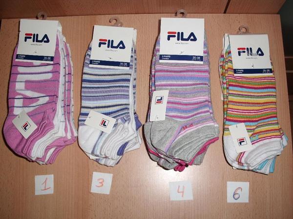 FILA Damen, Kinder Socken, Sneaker 1 Pack/3 P., Gr.35-38 , Neu in ...
