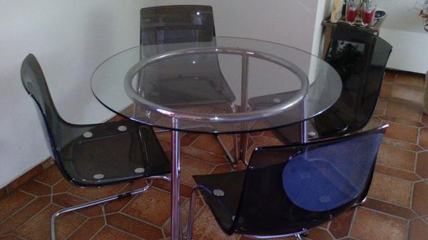 esstisch glas metall gebraucht kaufen nur 4 st bis 60 g nstiger. Black Bedroom Furniture Sets. Home Design Ideas