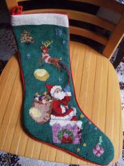 Gobelin-Stickerei, Weihnachtsstiefel,