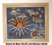 Gobelin Wandbild Sonne im Mer